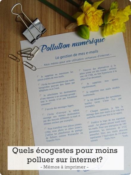 pollution numérique écogeste