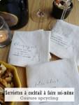 Coudre des serviettes à cocktail-DIY Upcycling