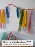 Guirlande de tissu DIY- Comment réussir une déco anniversaire sans ballons?