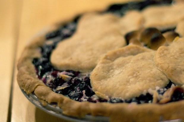 Gluten Free Blueberry Almond Pie