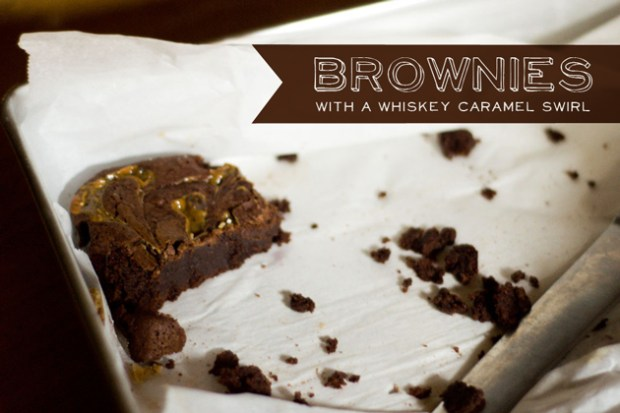 gluten free brownies with whiskey caramel