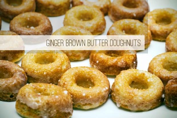 mini gluten free brown butter ginger doughnuts