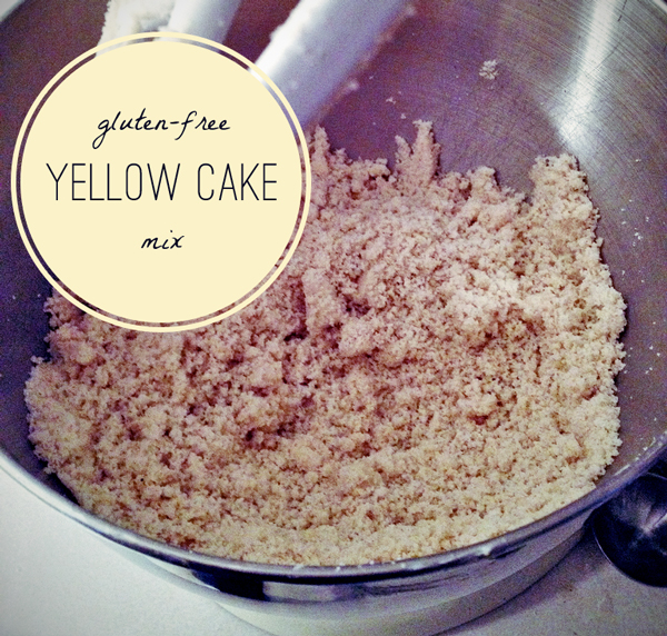 gluten free yellow cake mix from scratch