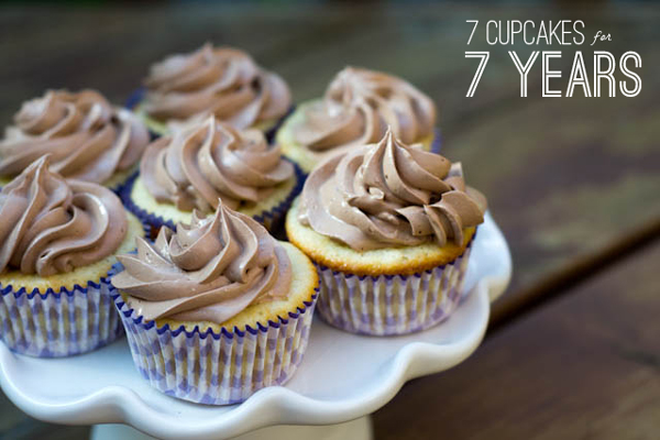 7 cupcakes for 7 years