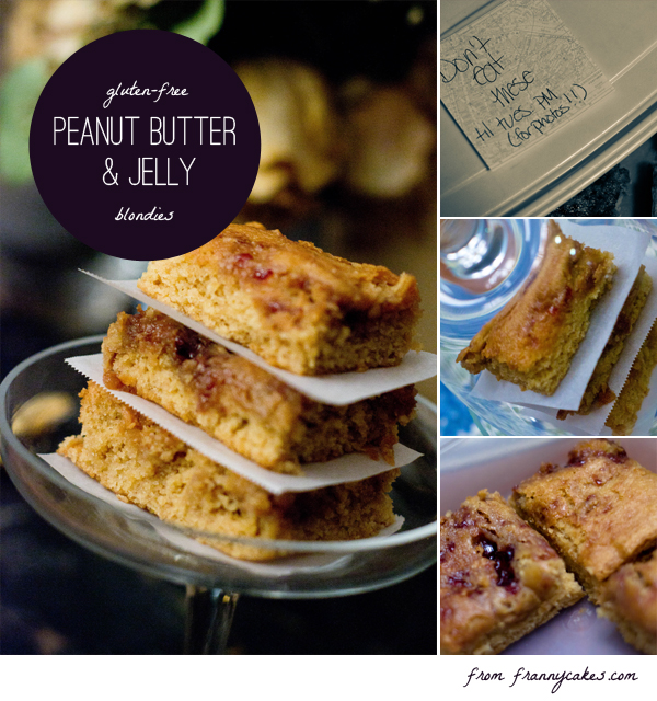 peanut butter gluten free blondies