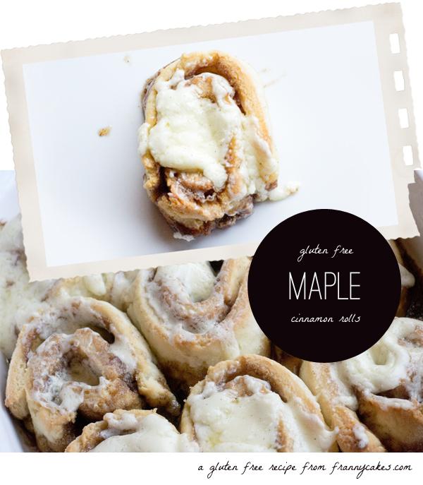 gluten free maple cinnamon rolls