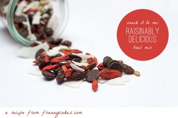 raisinably delicious gluten free trail mix