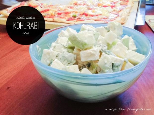 gluten-free kohlrabi salad from frannycakes