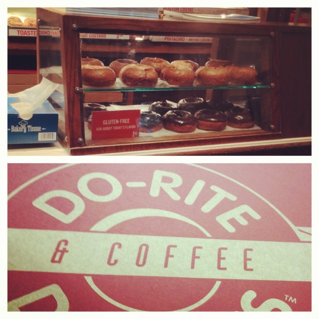 Gluten-free doughnuts at Do-Rite Donuts in Chicago