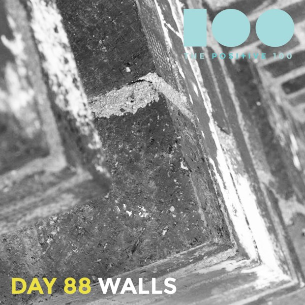 Day 88 : Walls   Positive 100   Chronic Positivity Project