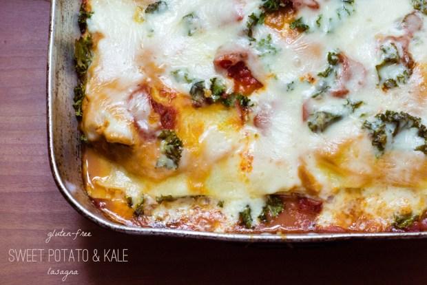 Gluten-Free Sweet Potato & Kale Lasagna | A gluten-free recipe from FrannyCakes