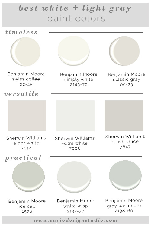 Interior Designers Favorite White Paint Colors