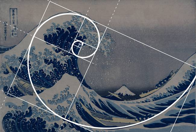 Image result for The Fibonacci sequence crashing wave