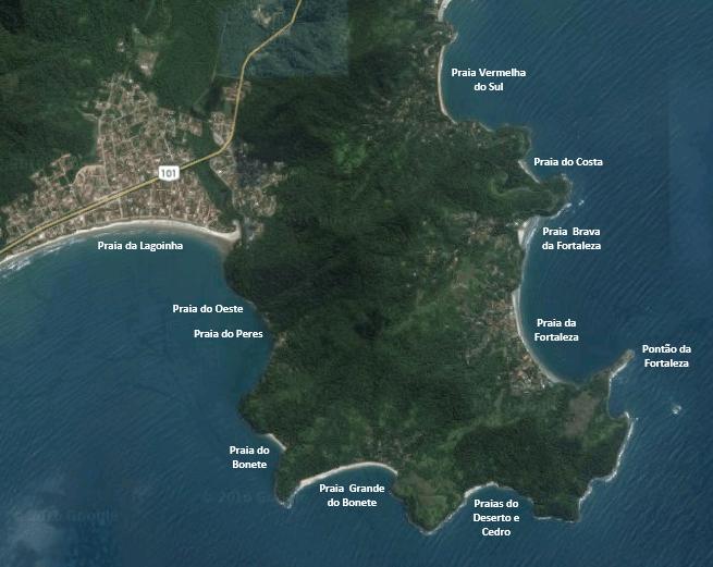 Trilha das 7 Praias - Mapa