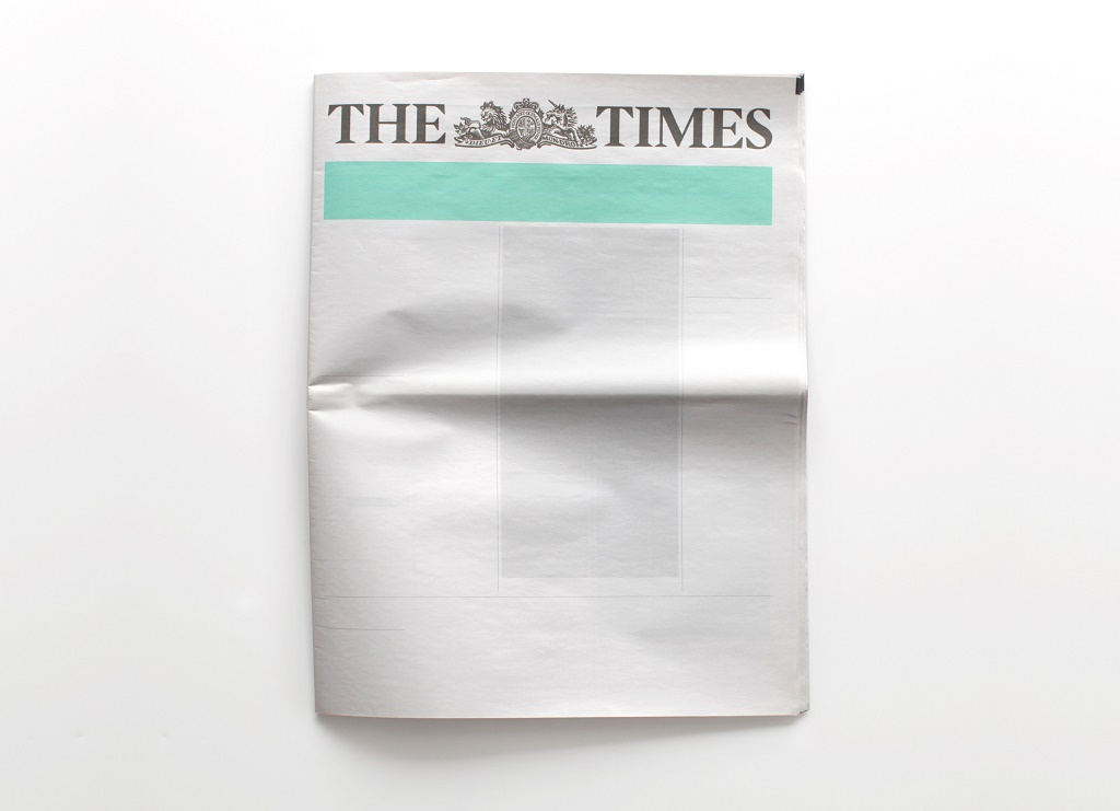 the-times-portada-vacia-nothing-in-the-news