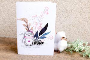 Carte «Bonne année» avec Mme Pingouin!!