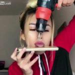 VÍDEO: Chica se perfora la lengua y la estira