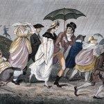 La invención del paraguas plegable