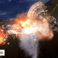 Un satélite a punto de estallar