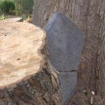 Pareja encuentra una lápida de casi 300 años en el jardín de su casa