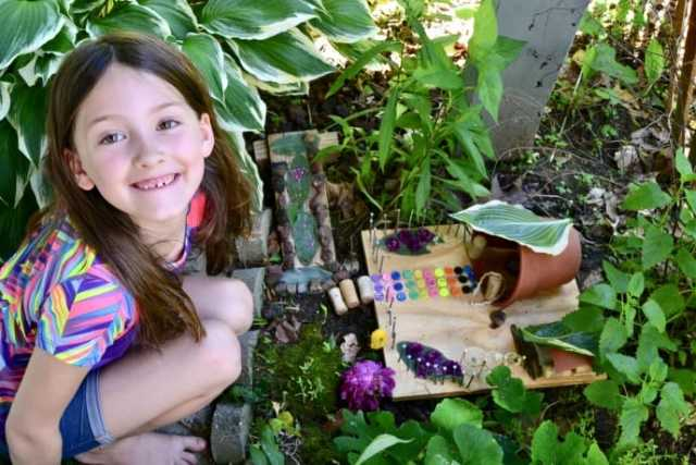 Recycled Fairy house create space for boredom