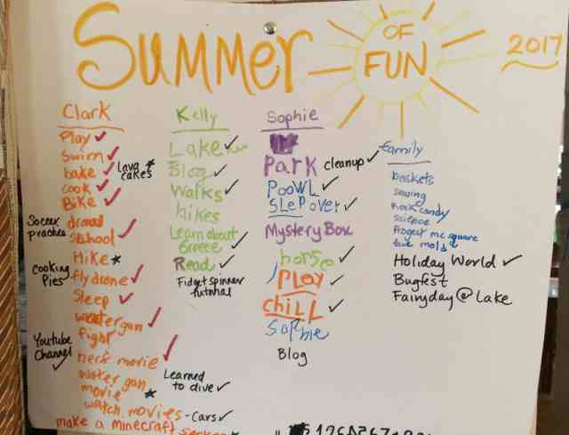 Summer Bucket List, play with list making