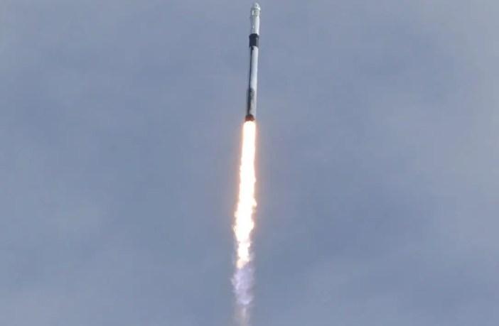SpaceX Falcon 9 rocket test.