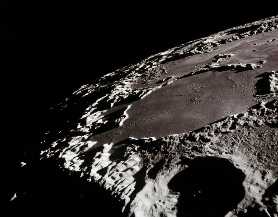 Moon impact craters