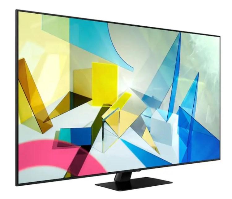 Samsung QE55Q80T TV.