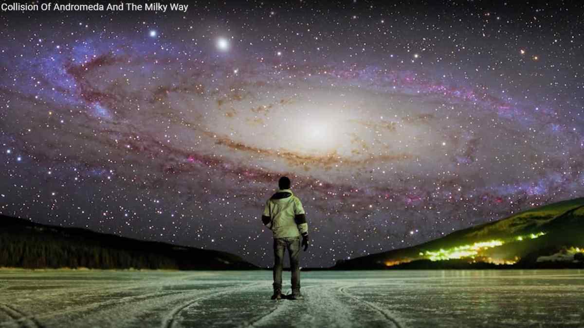 The Milky Way and the neighboring Andromeda Galaxy are converging.