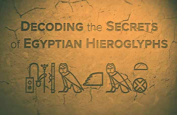 Hieroglyphics in ancient Egypt.