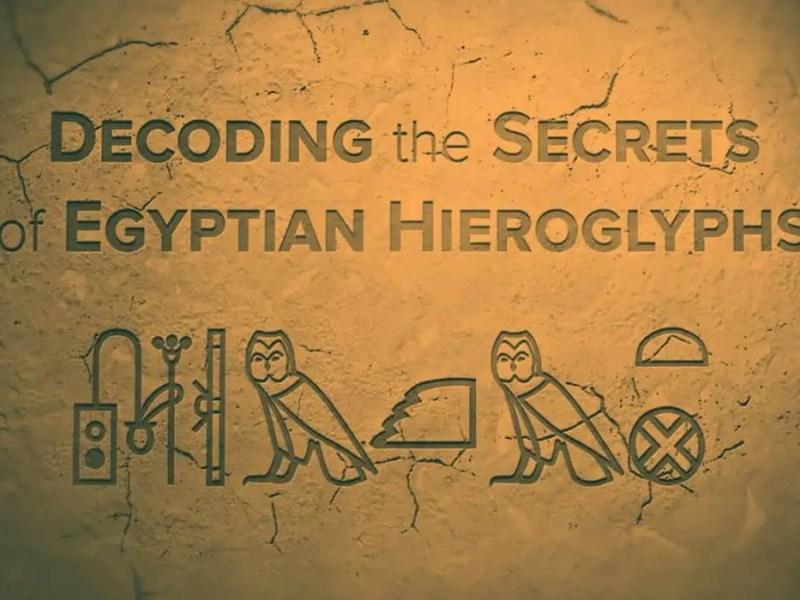 Hieroglyphics in ancient Egypt.