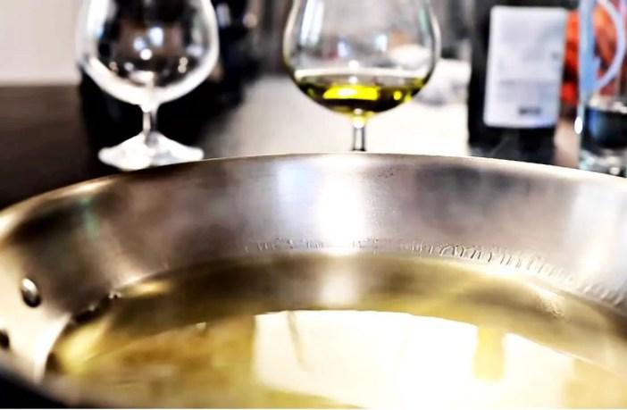 Overheated Olive oil.
