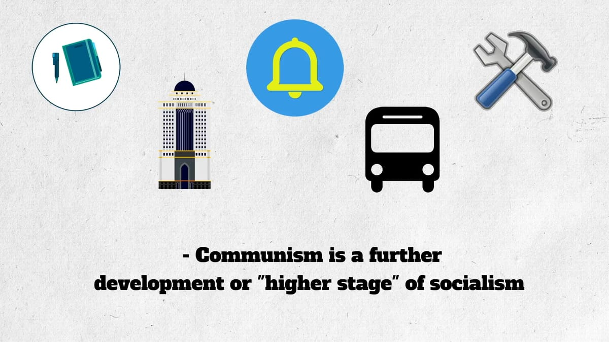 Two different socio-economic approaches: communism and capitalism.