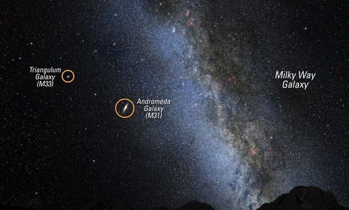 What galaxy can be seen from Earth