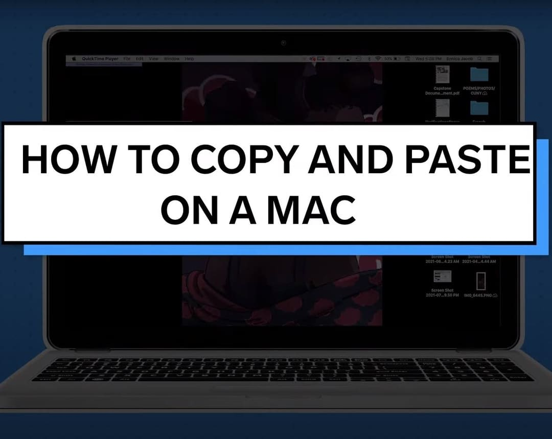 Copy and paste on mac.