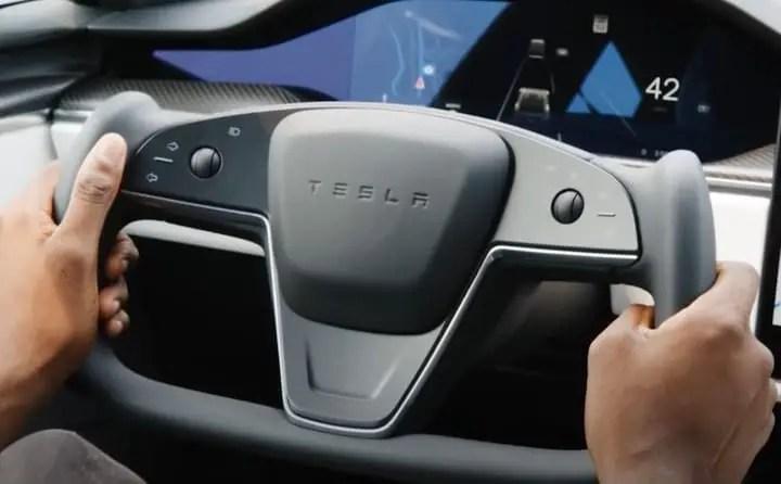 Tesla car test active technology.