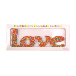 Freckled Love chocolate word