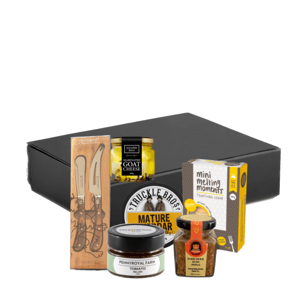 Cheese and spice gift hamper