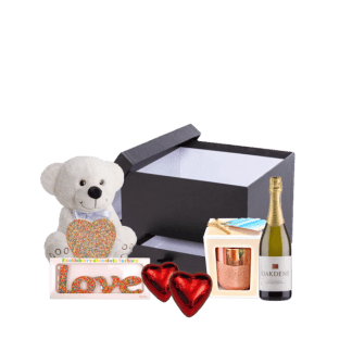 Love and Bubbles Gift hamper valentines