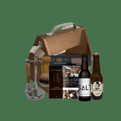 Beer and shave gift hamper
