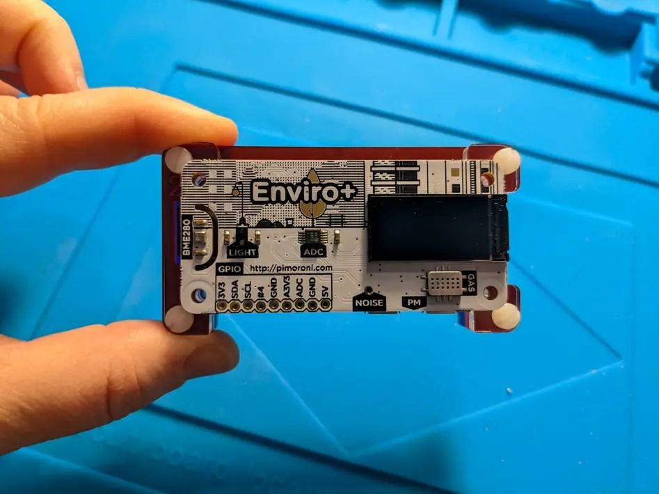 close up image of the air quality sensor
