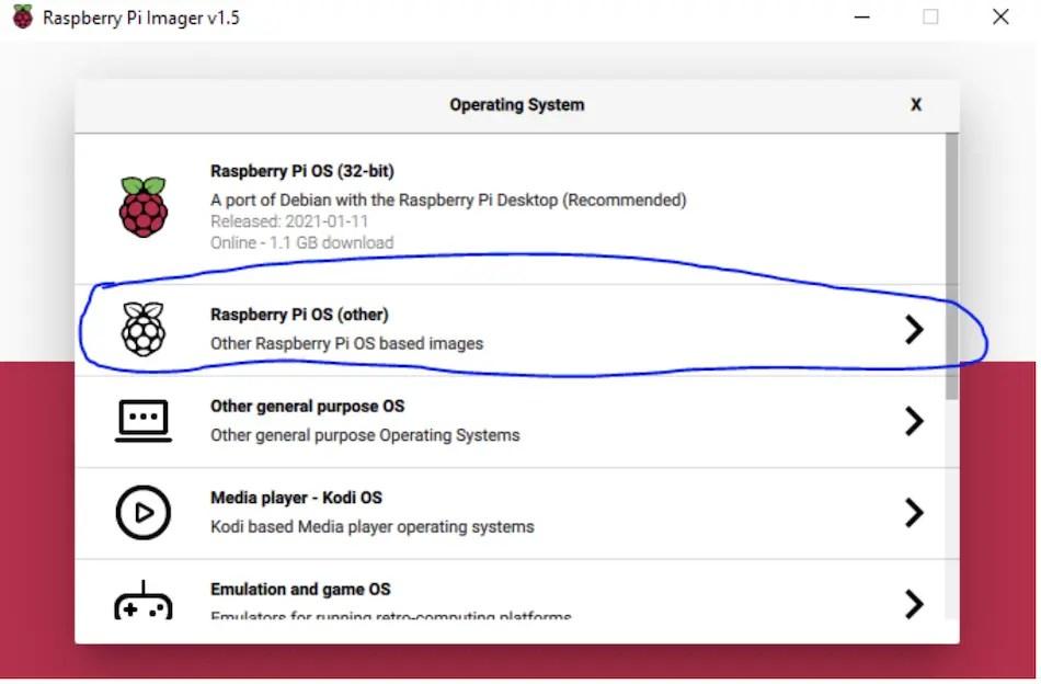 raspberry Pi operating system
