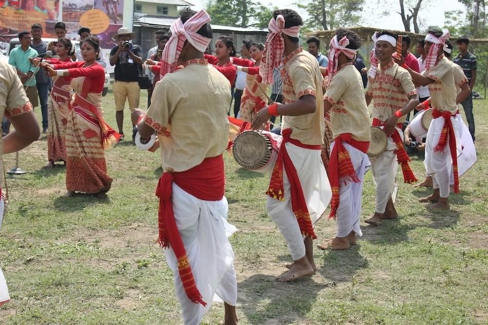 Indian men wearing traditional clothing dhoti