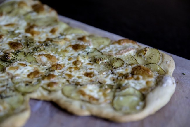 Flammkuchen Vegan Christmas food Munich