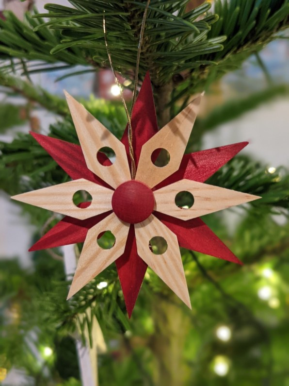 wooden christmas ornament