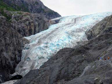 exit glacier among the rocks at Kenai Fjords National Park