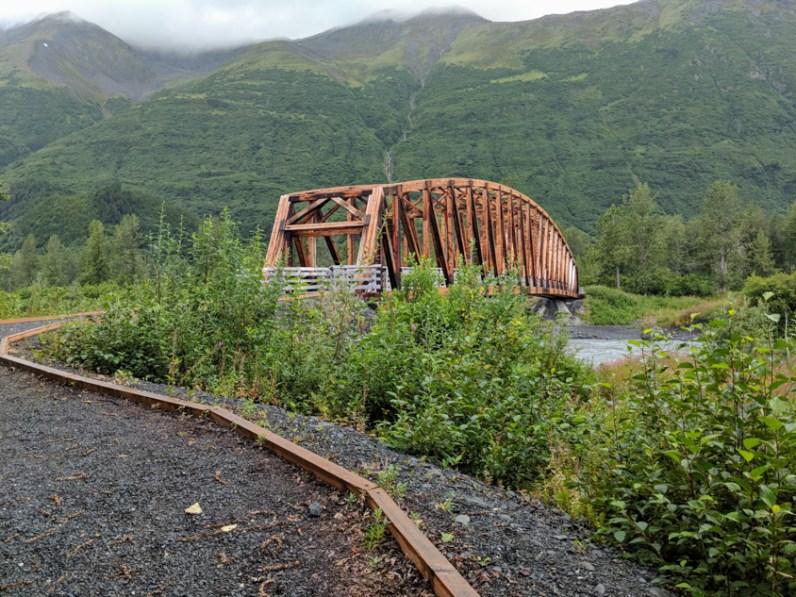 spencer glacier bridge at the glacier discovery train