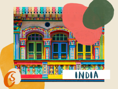 colorful indian house