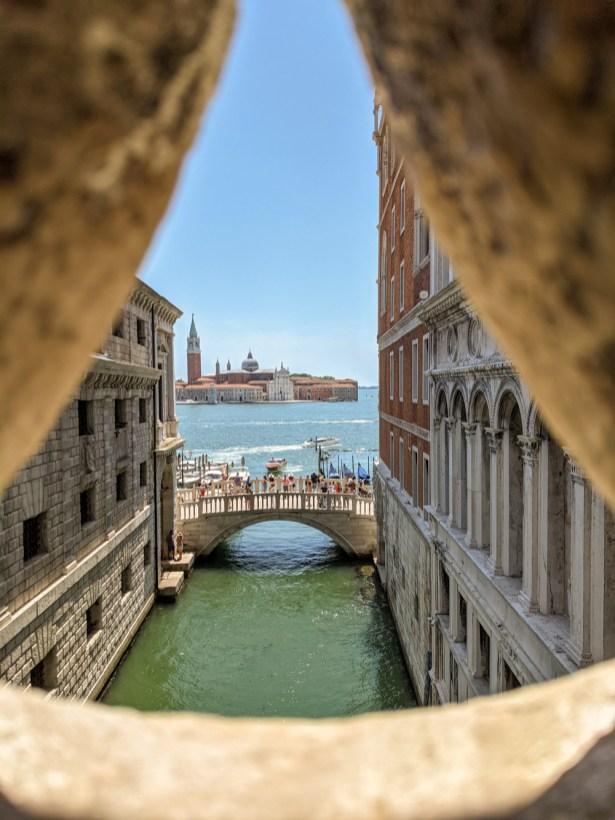 Bridge of Sighs Venice Lagoon